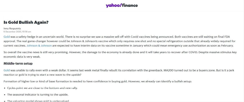 Trader Inna Rosputnia at YahooFinance