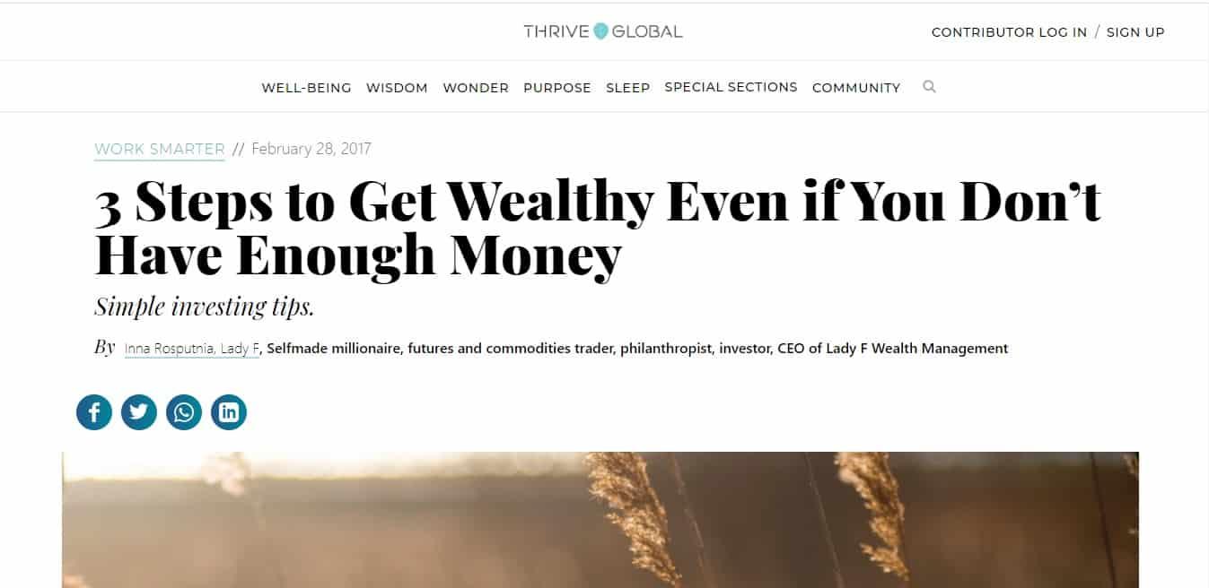 Thrive Global Inna Rosputnia