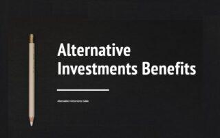 alternative investments benefits for investor