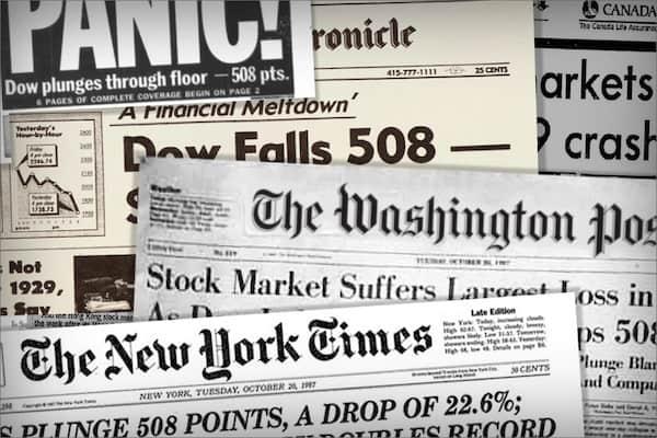 biggest stock market crashes